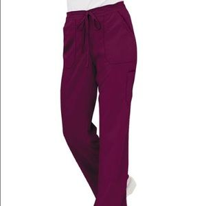Greys anatomy burgundy scrub petite pants
